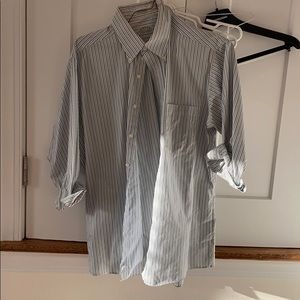 Other - Men's Blue and Green Striped Dress Shirt